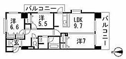 ヘスティア大濠[706号室]の間取り