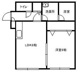 ルナパークII[2階]の間取り