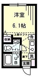 Refine 戸塚町 2階ワンルームの間取り