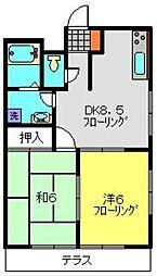 エステートN&Y[102号室]の間取り