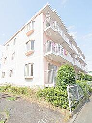 東京都福生市北田園2の賃貸マンションの外観