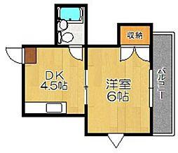 PLEAST姪浜II[301号室]の間取り