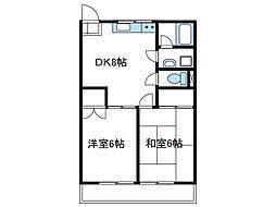 神奈川県厚木市林3丁目の賃貸マンションの間取り