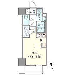 東京メトロ千代田線 湯島駅 徒歩6分の賃貸マンション 2階ワンルームの間取り