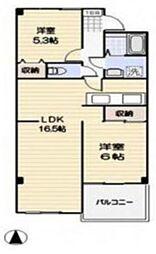 埼玉県三郷市戸ケ崎3丁目の賃貸マンションの間取り