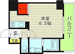 ララプレイス・ザ・京橋ステラ 5階1Kの間取り