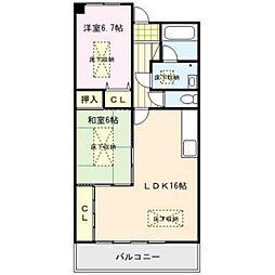 RENACE MITOU(ルネスミトウ)[5階]の間取り