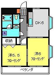 クレールハイツ小机[301号室]の間取り