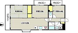 ラフィネ狛江[207号室]の間取り
