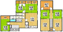 [一戸建] 北海道小樽市桜5丁目 の賃貸【/】の間取り