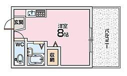 シャンテー招提[3階]の間取り