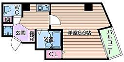 大阪府大阪市住吉区長峡町の賃貸マンションの間取り