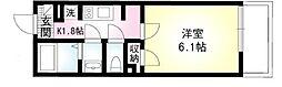 JR京浜東北・根岸線 大宮駅 徒歩12分の賃貸マンション 3階1Kの間取り
