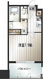 福岡県福岡市中央区天神3丁目の賃貸マンションの間取り