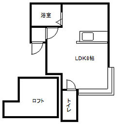 YTS41[205号室]の間取り