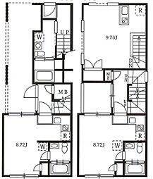 西武池袋線 椎名町駅 徒歩7分の賃貸マンション 5階ワンルームの間取り