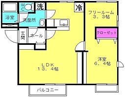 兵庫県高砂市伊保崎5丁目の賃貸アパートの間取り