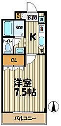 神奈川県鎌倉市大船4丁目の賃貸アパートの間取り