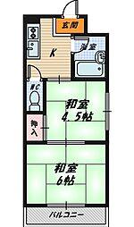 グラントピア第二京橋[4階]の間取り