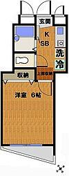 シェソワ三鷹[3階]の間取り