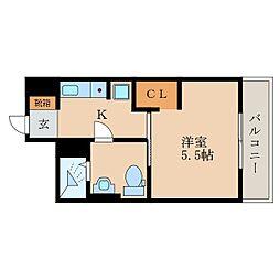 メゾン昴[1階]の間取り