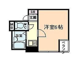 大阪府大阪市北区豊崎2の賃貸マンションの間取り