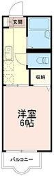 神奈川県川崎市多摩区菅6丁目の賃貸アパートの間取り