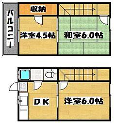 福岡県福岡市早良区西新6丁目の賃貸アパートの間取り