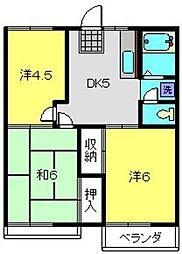 神奈川県横浜市旭区川井本町の賃貸アパートの間取り