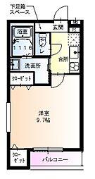 JR阪和線 杉本町駅 徒歩5分の賃貸アパート 1階1Kの間取り