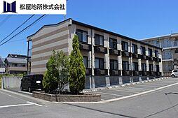 愛知県豊川市八幡町東赤土の賃貸アパートの外観