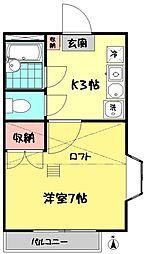 東京都杉並区井草2の賃貸アパートの間取り