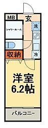 新京成電鉄 新津田沼駅 徒歩5分の賃貸マンション 1階1Kの間取り