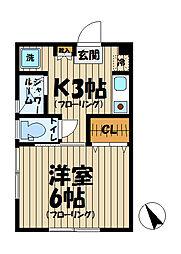 HAITU K[202号室]の間取り
