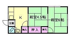 綛田文化[1階]の間取り