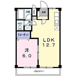 愛知県豊橋市多米中町4丁目の賃貸アパートの間取り