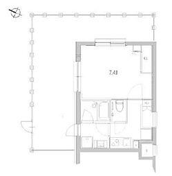 JR山手線 品川駅 徒歩9分の賃貸マンション 4階1Kの間取り