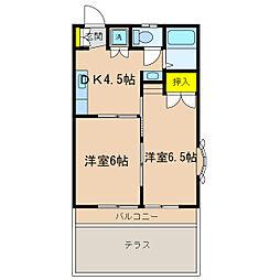 ヒルトップ永田[1階]の間取り