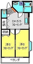 神奈川県横浜市港北区高田西4丁目の賃貸アパートの間取り