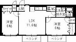静岡県焼津市利右衛門の賃貸アパートの間取り