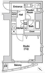 カーサスプレンディッド赤坂7丁目 7階1Kの間取り