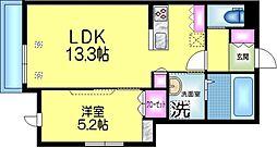 ヘーベルメゾン墨田2丁目 3階1LDKの間取り