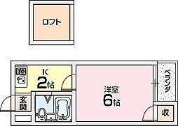 シャルマン田口[2階]の間取り