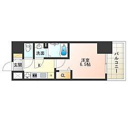 Osaka Metro御堂筋線 中津駅 徒歩12分の賃貸マンション 6階1Kの間取り