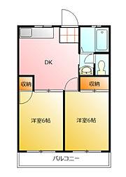 第2藤野マンション[3階]の間取り