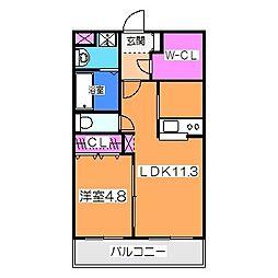 コンフォース マンテン レジデンス 3階1LDKの間取り