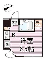 東京都大田区中馬込3丁目の賃貸マンションの間取り