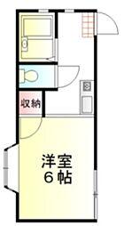 JR川越線 南古谷駅 徒歩4分の賃貸アパート 1階1Kの間取り