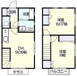 [テラスハウス] 神奈川県横浜市緑区中山町 の賃貸【/】の間取り