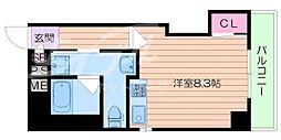 エルプラド都島[3階]の間取り